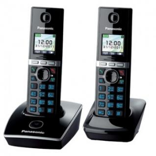 Радиотелефон Panasonic KX-TG8052RUB чёрный,доп.трубка,ЖК цвет.дисплей