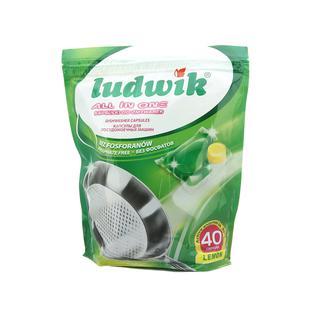 Капсулы гелевые для посудомоечных машин Ludwik 40 шт