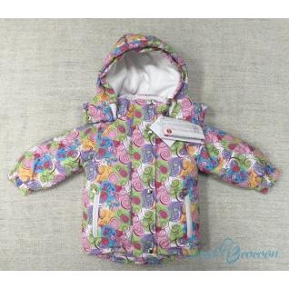 """Зимняя куртка для девочки с меховой подстежкой """"Радуга"""" Sweet Cocoon"""