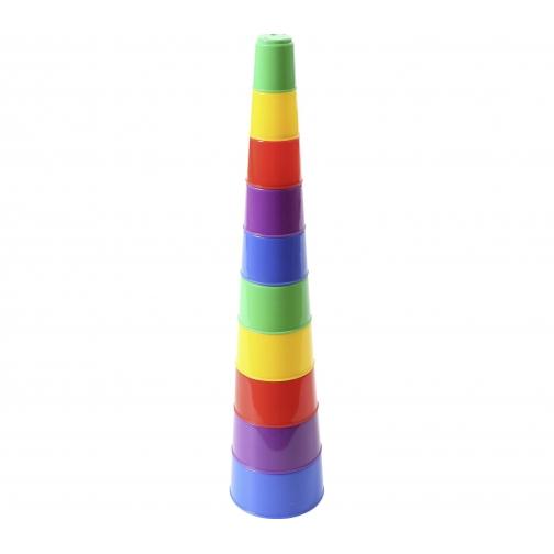 Занимательная пирамидка №2 (10 элементов) (в пакете) Полесье 37880253
