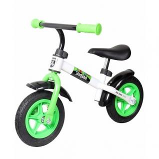 Детский беговел KidRun, бело-зеленый Moby Kids