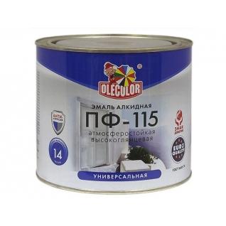 Эмаль алкидная OLECOLOR ПФ-115 салатный, 0.8 кг