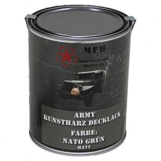 MFH Лак защитный Army, цвет матово-зеленый НАТО, 1 л.