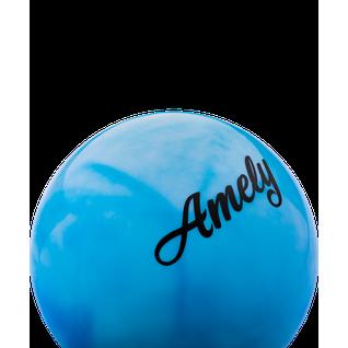 Мяч для художественной гимнастики Amely Agb-101, 15 см, синий/белый