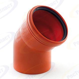 Отвод ПП (рыжий) Д-110х45 гр (РосТурПласт) Россия