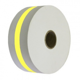 Лента бандерольная для автомат. упаков. монет 77.0 мм желтый, бобина 300м