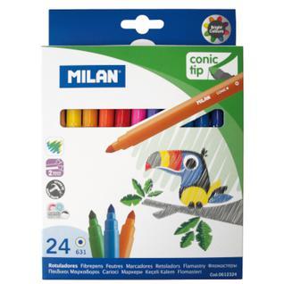 Фломастеры 24цв Milan cone-tipped, 0612324