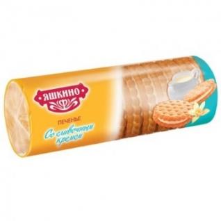 Печенье затяжное Яшкино со сливочным кремом 182г МП426