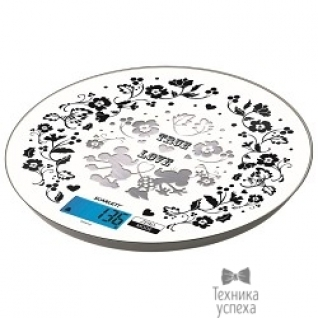 Scarlett Весы кухонные электронные Scarlett SC-KSD57P03 макс.вес:5кг белый/рисунок