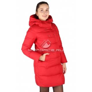 Пальто женское зимнее красного цвета 6128