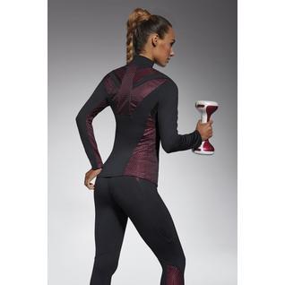 Толстовка для фитнеса свободного кроя Inspire черный с розовым M Inspire blouse Bas Bleu