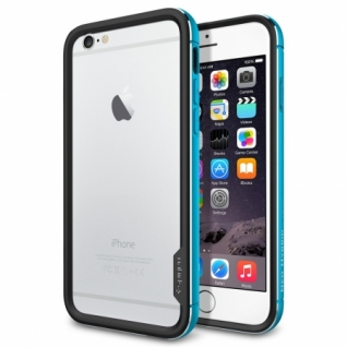 Бампер для iPhone 6 Neo Hybrid EX Metal цвет Metal Blue (SGP11188)