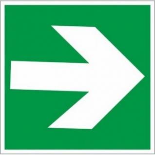 Знак безопасности E02-01 Направл.стрелка (плёнка,ф/л,200х200) уп.10шт