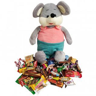 Новогодний сладкий подарок Сержик игрушка 1000гр 55х20х16 см 9485 МосУпак