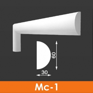 Молдинг фасадный Архитек Мс-1 60*30