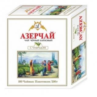 Чай Азерчай Букет черн. с чабрецом 100 пакx2гр/уп 209217