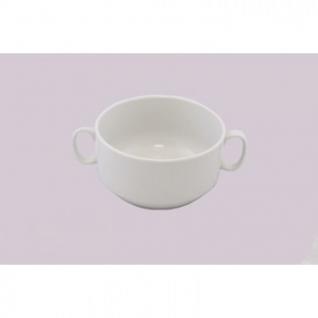 Чаша для бульона с ручками 470мл фарфор белый (4С0677Ф34)