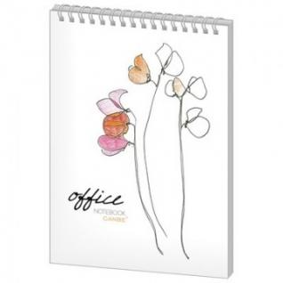 Блокнот 60л,кл,А5,Office Flowers,глян.лам,спир(NBА5-60OF)