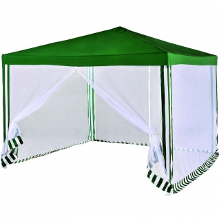 Тент шатер садовый с москитной сеткой Green Glade 1036, карниз прямой, от солнца ...