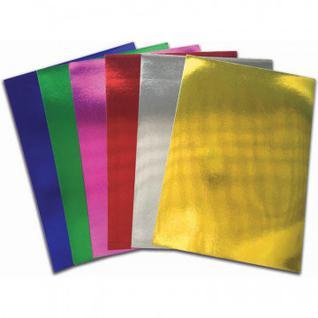 Бумага для творчества цветная самокл.металлизирован.,6л.6цв.,А4,230-51743