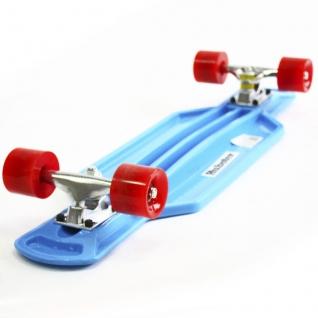 Скейт борд 4-колёсный Hubster Cruiser 29 синий с красными колесами