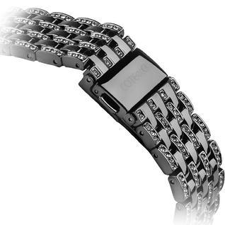 Ремешок со стразами из нержавеющей стали COTEetCI W4 Magnificent Band (CS2087-BK) для Apple Watch 40мм/ 38мм Черный
