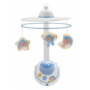 """Мобиль для кровати с подвесками """"Волшебные звезды"""" (и/к пульт), голубой Chicco"""