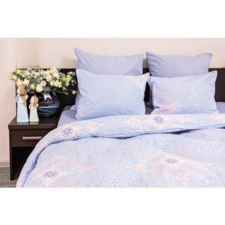 Постельное белье 2 сп бязь 120гр/м2 Витраж голубой