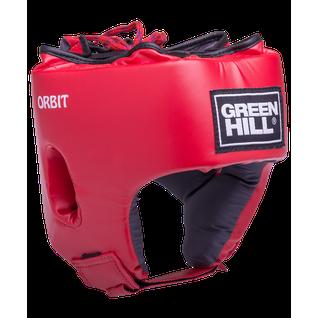 Шлем открытый детский Green Hill Orbit, Hgo-4030, кожзам, красный размер S