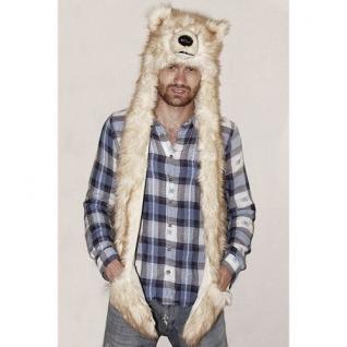 TrueFur Шапка меховая с рукавицами Медведь H0057
