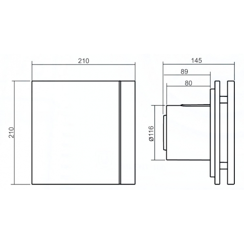 Вентилятор Soler & Palau Silent-200 CRZ Silver Design-3C 6770105 2