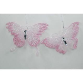 Украшение Бабочка, цвет розовый, акрил, ассортимент