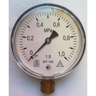 Манометр технический МТ-100 (1,0 МПа) 2020 ЗТП