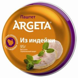 Мясные консервы Паштет из мяса индейки Argeta 95г