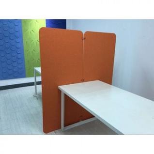 Офисные перегородки EasyAux ZEN шумопоглощающая на пол 1600х700, оранжевый