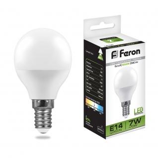 Светодиодная лампа Feron LB-95 (7W) 230V E14 4000K G45