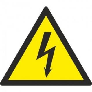 Знак безопасности W08 Опасность поражения эл.током (пластик,200х200)