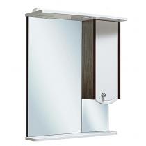 Шкаф зеркальный Runo Аликанте 60, венге-белый