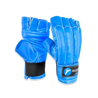 Перчатки снарядные, шингарты, кожзам, синий Rusco размер XL