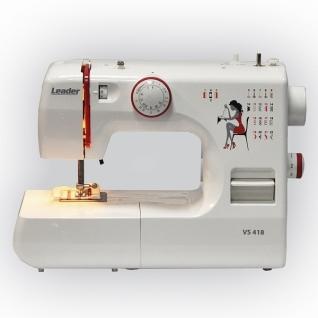 Leader VS418, Швейная машина (электромеханическая, качающийся челнок, швейных операций - 22, петля-полуавтомат)