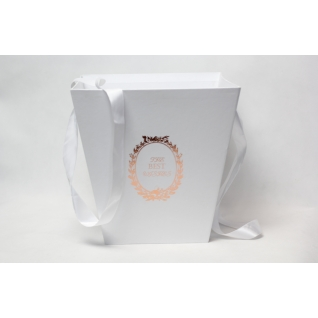 Коробка-кашпо подвесная белая