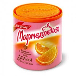 Мармелад Мармеландия апельсиновые дольки, 250 г.