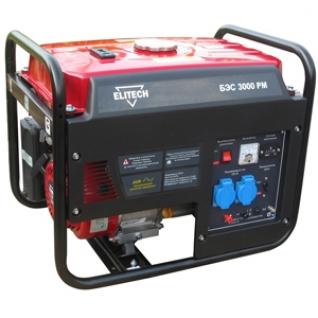 Генератор бензиновый Elitech БЭС 3000 РМ