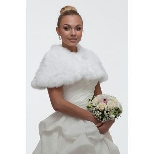Вязаный Мех. Пелерина свадебная из вязаного меха МАЛЬВИНА белый