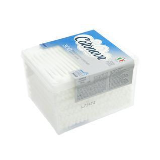 Палочки ватные Cotoneve в квадратной упаковке с крышкой, 300 шт