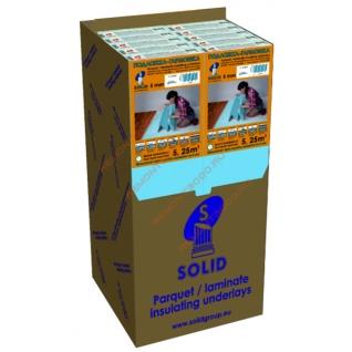 СОЛИД подложка XPS гармошка 5мм (упак. 5,25 кв.м.) / SOLID подложка XPS гармошка под ламинат 5мм 1,05х5м (упак.5,25 кв.м.) Солид
