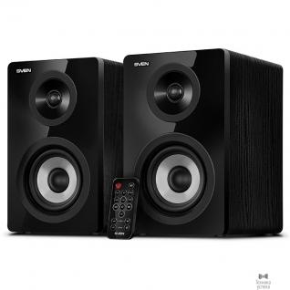 Sven SVEN SPS-750, чёрный акустическая система 2.0, мощность 2х25Вт (RMS), пульт ДУ, Bluetooth, Optical