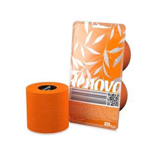 Туалетная бумага трехслойная RENOVA CRYSTAL цвет оранжевый 140 листов, 2 рулона