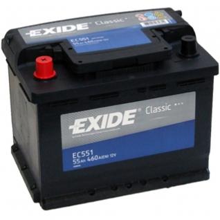 Аккумулятор EXIDE CLASSIC EC551 12V 55Ah 460A прямая полярность - EC551 EXIDE EC551