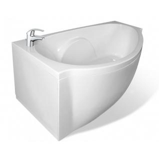 Отдельно стоящая ванна Эстет Грация белая левая